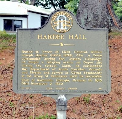 Hardee Hall Marker image. Click for full size.