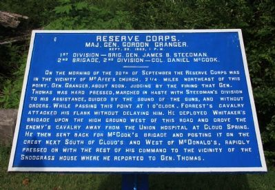 Reserve Corps Marker Photo, Click for full size