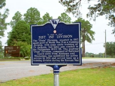 31st Inf Division Marker image. Click for full size.