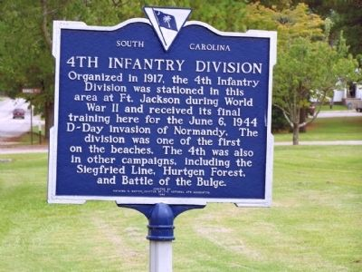 4th Inf Division Marker Photo, Click for full size