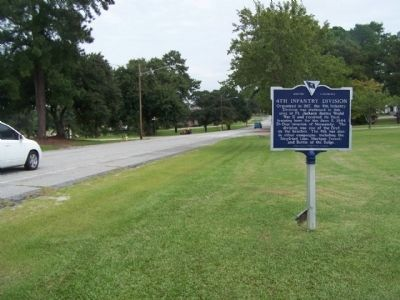 4th Inf Division Marker, looking north along Jackson Blvd. image. Click for full size.