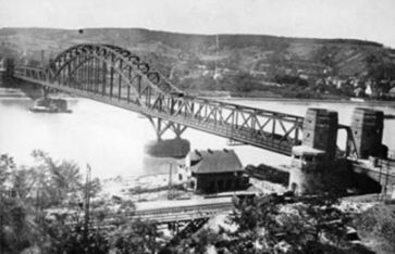 Ludendorff Bridge near Remagen, Germany image. Click for full size.