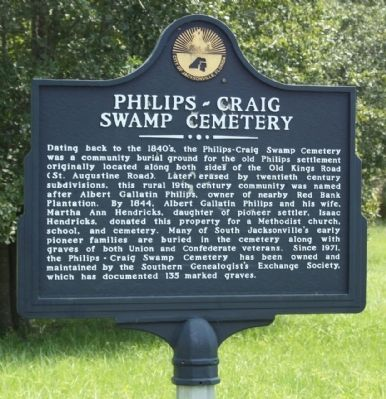 Philips ~ Craig Swamp Cemetery Marker image. Click for full size.