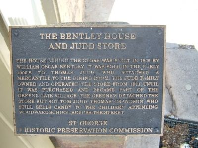 The Bentley House and Judd Store Marker image. Click for full size.