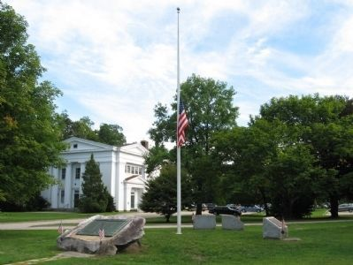 Stockbridge Veterans's Monuments around the Flagpole image. Click for full size.
