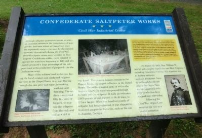 Confederate Saltpeter Works Marker image. Click for full size.