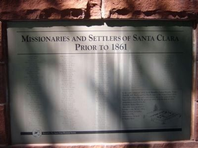 Missionaries and Settlers of Santa Clara Marker - Side C image. Click for full size.