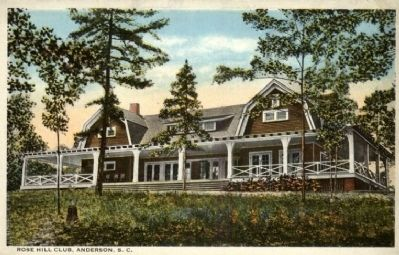 Rose Hill Country Club<br>Historic Postcard image. Click for full size.