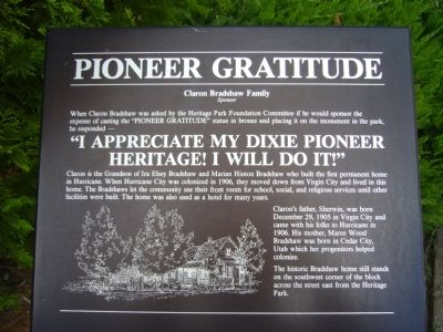 Pioneer Gratitude Marker image. Click for full size.