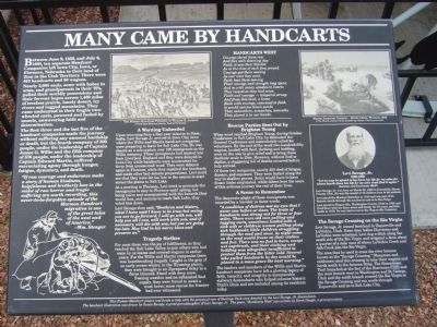 Many Came by Handcart Marker image. Click for full size.