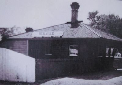 Bealeville Train Depot Photo, Click for full size