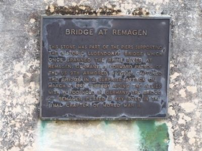 Bridge at Remagen Stone Marker image. Click for full size.