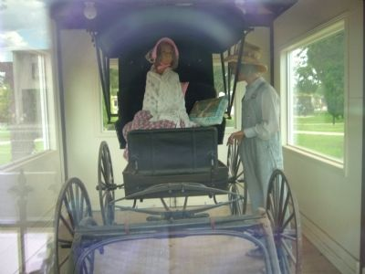 Buggies were dearly prized and generally kept in a carriage house. image. Click for full size.