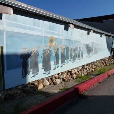 Belmont Mine Fire Mural image. Click for full size.