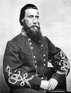 General John Bell Hood, CSA, after whom Hood Avenue is named. image. Click for full size.