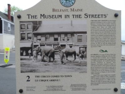 The Circus Comes to Town Marker Photo, Click for full size