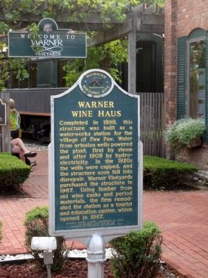 Warner Wine Haus Marker image. Click for full size.