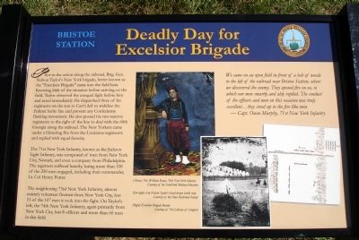 Deadly Day for Excelsior Brigade Marker image. Click for full size.