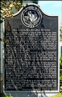 Franklin-Wandless House Marker image. Click for full size.