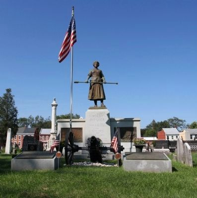 Molly Pitcher Gravesite. Photo, Click for full size
