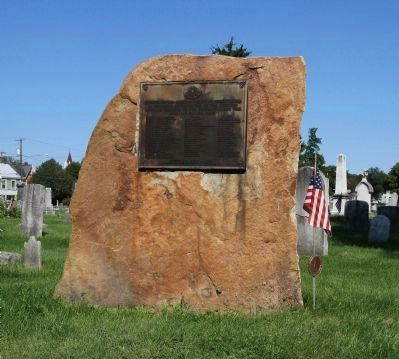 Carlisle Old Graveyard Revolutionary War Soldiers Marker Photo, Click for full size