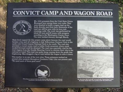 Convict Camp and Wagon Road Marker Photo, Click for full size