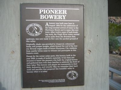 Pioneer Bowery Marker Photo, Click for full size