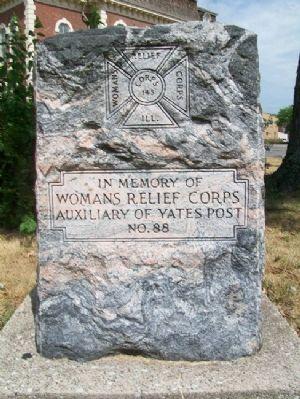 Yates Post No. 88 W.R.C. Monument Photo, Click for full size