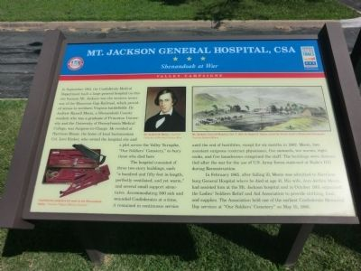Mt Jackson General Hospital Marker image. Click for full size.