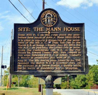 Site: The Mann House Marker image. Click for full size.