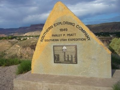 Southern Exploring Company - 1849 Marker Photo, Click for full size