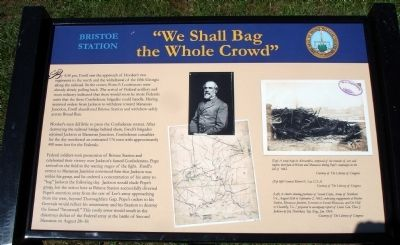 """We Shall Bag the Whole Crowd"" Marker Photo, Click for full size"
