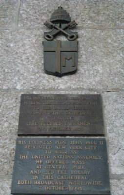 Papal Visits to New York City Marker Panels 2 and 3 Photo, Click for full size