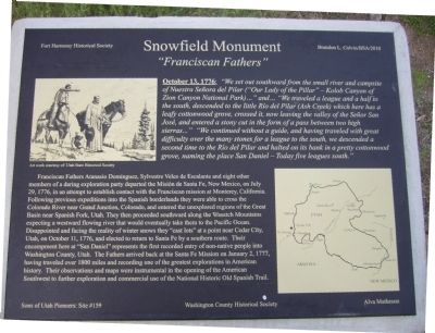 Snowfield Monument Marker Photo, Click for full size