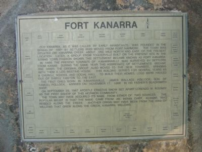 Fort Kanarra Marker Photo, Click for full size