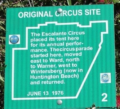 Original Circus Site Marker Photo, Click for full size