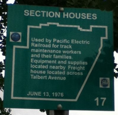 Section Houses Marker Photo, Click for full size