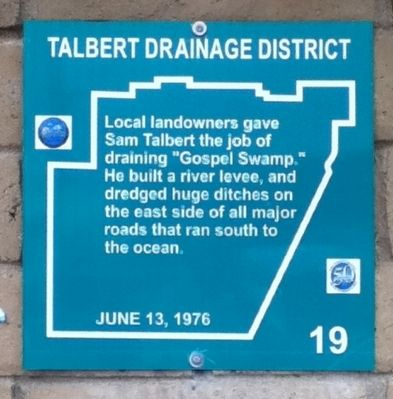 Talbert Drainage District Marker image. Click for full size.