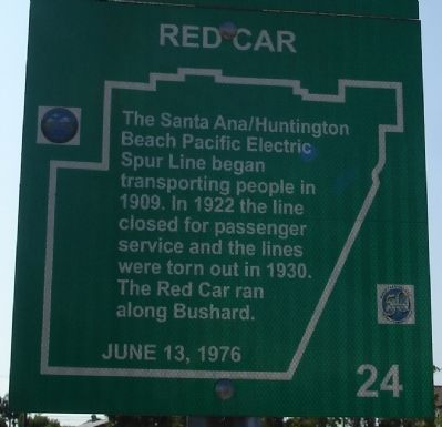 Red Car Marker Photo, Click for full size