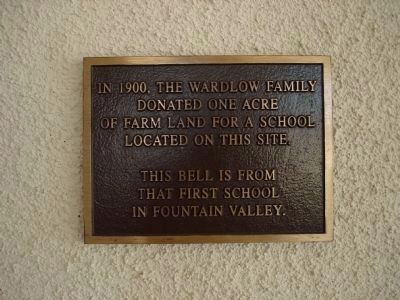 School Bell Marker Photo, Click for full size