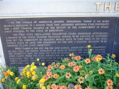 The Founding of Southern Utah University Marker image. Click for full size.