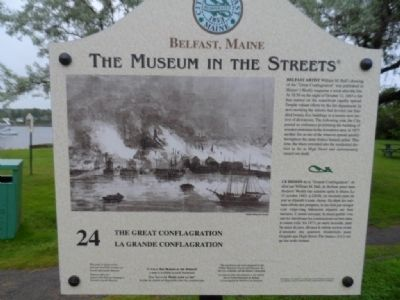 The Great Conflagration Marker Photo, Click for full size