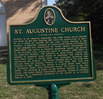 St. Augustine Church Marker image. Click for full size.