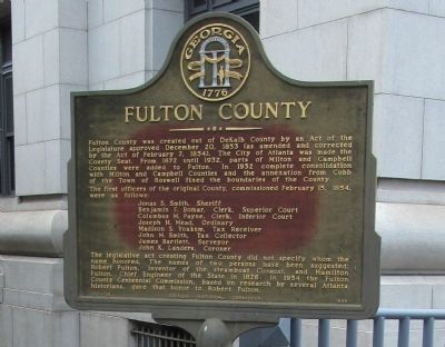 Fulton County Marker image. Click for full size.