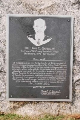 Dr. Don C. Garrison Marker Photo, Click for full size