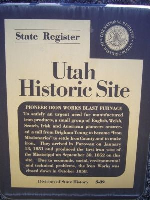 Pioneer Iron Works Blast Furnace Marker image. Click for full size.