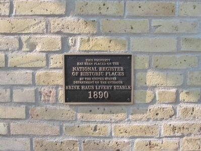 Brinkhaus Livery Stable Marker image. Click for full size.