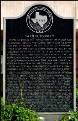 Harris County Marker image. Click for full size.