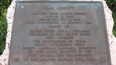 Polk County Marker Photo, Click for full size