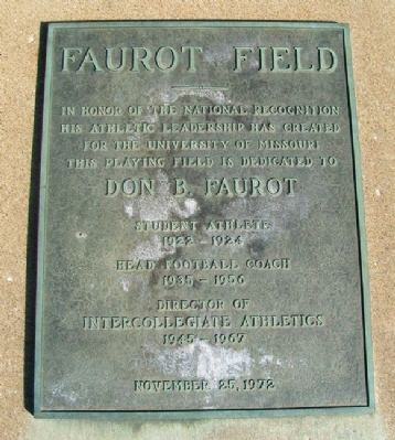 Faurot Field Marker image. Click for full size.